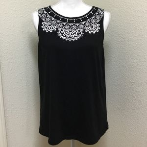 Banana Republic Tank with White Embroidery